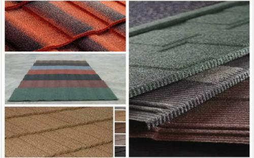 Aluzinc Granite Coated Eurotile Roofing Sheets Ghanadeal